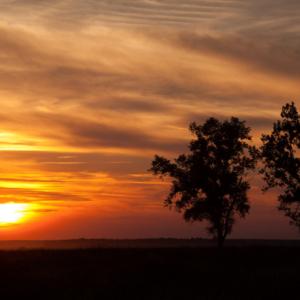 Wieś, Kapice, Zachód Słońca