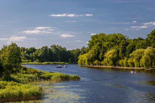 Jezioro Necko, Białe Augustowskie, Augustów latem