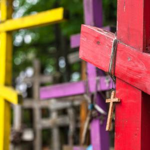 Św. Góra Grabarka, kolorowe krzyż prawosławny, prawosławie na Podlasiu,Maciej Nowakowski