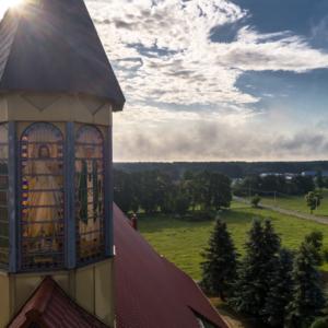 Kościół w Białaszewie, podlaskie z lotu ptaka, Maciej Nowakowski