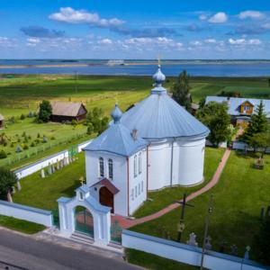cerkiew prawosławna w Siemianówce z lotu ptaka, Maciej Nowakowski