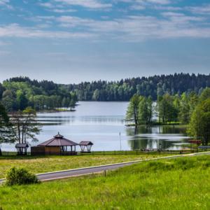 Jezioro Sumowo i Bakałarzewo z lotu ptaka, Maciej Nowakowski