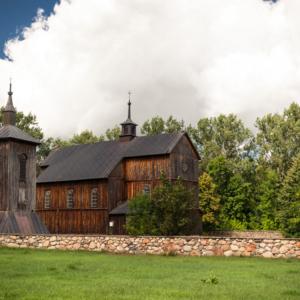 Kramarzewo latem, kościół św. Barbary Kramarzewo, polish wooden church, architektura drewniana podlasia, Maciej Nowakowski