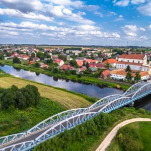 Tykocin kościół i widok na most, Maciej Nowakowski
